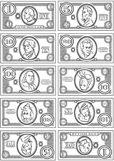 Play Paper Money Template