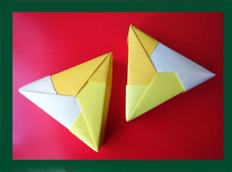 Origami Ideas - free coloring pages easy origami triangle gift box ideas