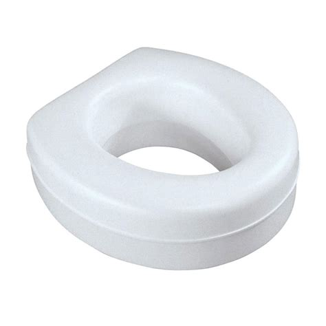 elevated toilet seat medline elevated toilet seat in white mds80318rwh the