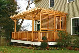 How To Attach Pergola To Deck attached pergolas traditional deck boston by