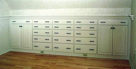 Knee Wall Storage Drawers by Pic 1 Drawers And Cabinets Are Built In To The Knee Wall
