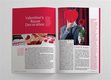 valentine magazine template 24 pages magazines