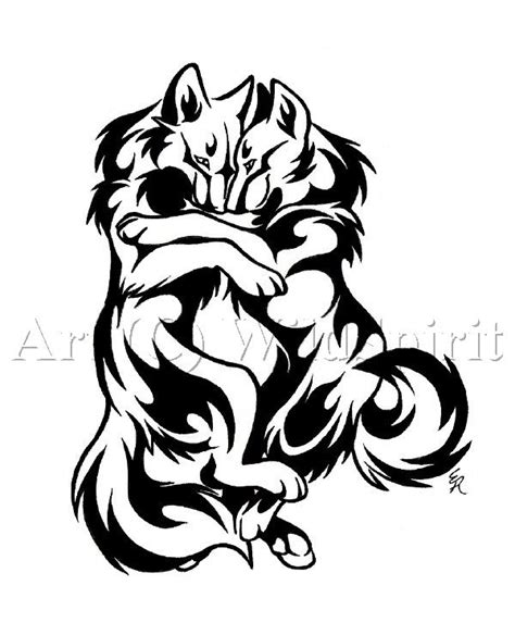wolf tattoo designs for couples cuddle wolves tattoo design by wildspiritwolf on