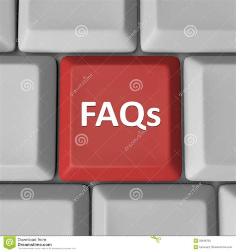 Help Finding Faqs Computer Keyboard Key Frequently Asked Questions Royalty Free Stock Photo