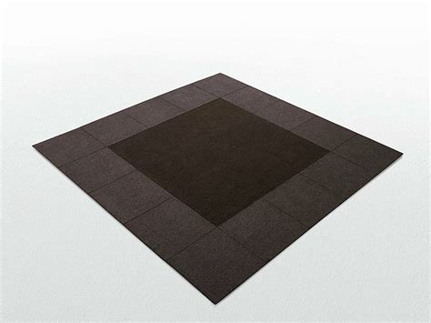 tappeto quadrato tappeto quadrato in feltro cornice 50 by lenti