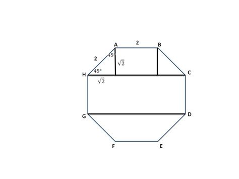 how is the area of an irregular octagon calculated