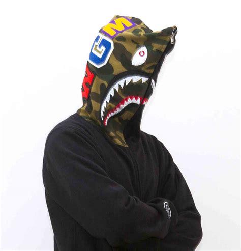 Bape Shark Fullzip Hoodie silver zip bape shark hoodie dopestudent