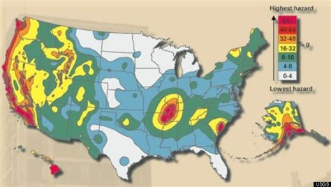 u s fault lines graphic earthquake hazard map huffpost