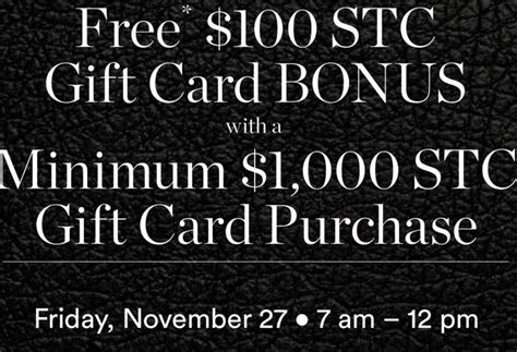 Free Gift Card Deals - free or bonus gift card offers by shopping malls on black friday