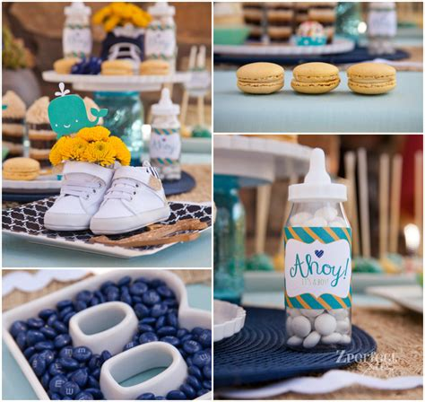 ahoy its a boy decorations nautical themed baby shower in vintage inspired colors
