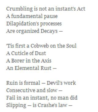 emily dickinson biography poetry foundation crumbling is not an instant s act 1010 by emily