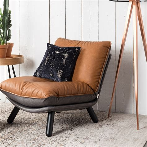 lazy chair zuiver lazy accent chair in vintage brown zuiver