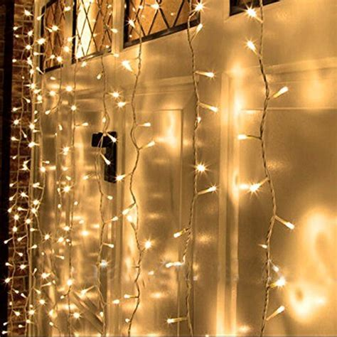 Kohree 300 Led Curtain icicle lights, Remote Curtain
