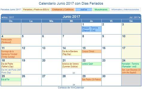 Calendario De Dias Festivos En Estados Unidos Calendario Junio 2017 Para Imprimir Estados Unidos