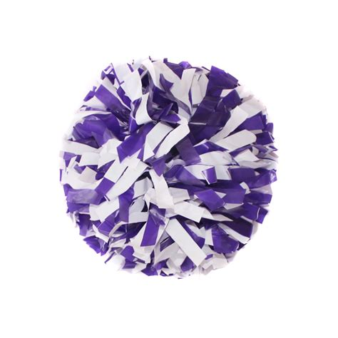 purple pomeranian cheer plastic white and plastic purple pom