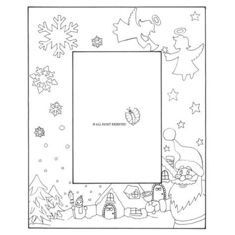 disegni di cornici per bambini disegno di cornice di natale verticale da colorare per