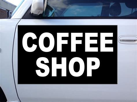 car door magnets coffee shop style 4 corrugated car door magnets magnetic signs qty 2 ebay