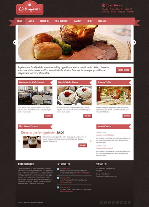 25 delicious wordpress themes for restaurants and cafes