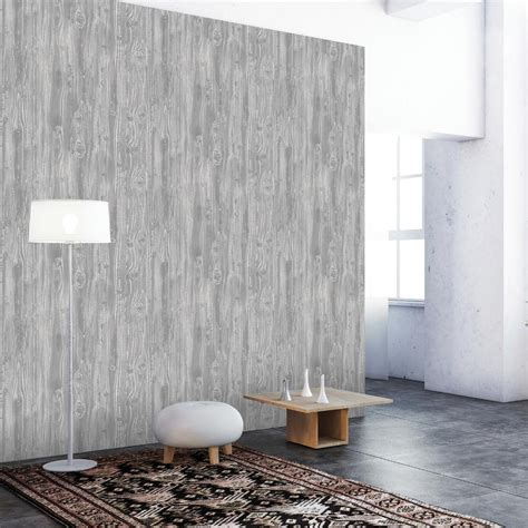 removable wallpaper adhesive tempaper pewter woodgrain wallpaper wo079 the home depot