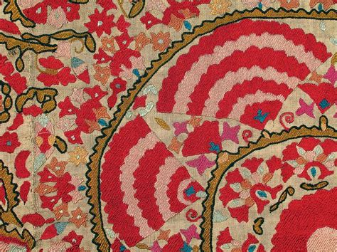uzbek suzani embroidery uzbek suzani textiles silk embroidery fragment nurata