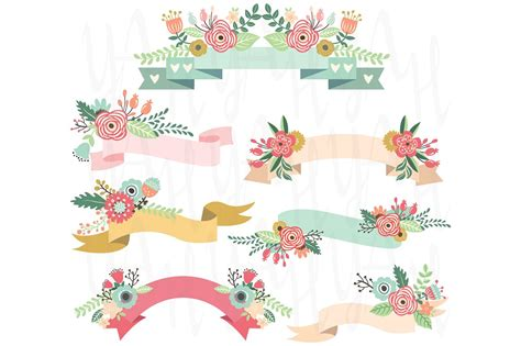 Wedding Banner Vector by Wedding Floral Banners Illustrations Creative Market