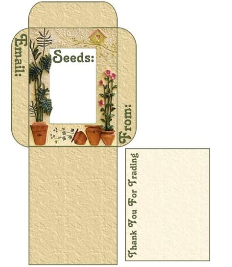 pattern for seed envelope seed saving use these free seed envelope packet