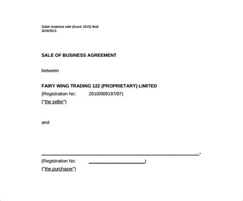sales agreement template word business sale agreement template free sanjonmotel
