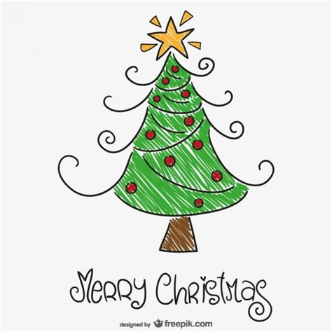 arbol navidad dibujo dibujo a color de 225 rbol de navidad descargar vectores gratis