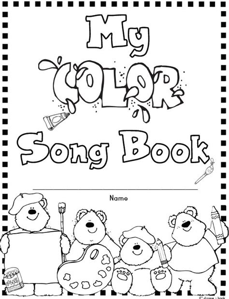 color word songs 26 best frog press printables images on