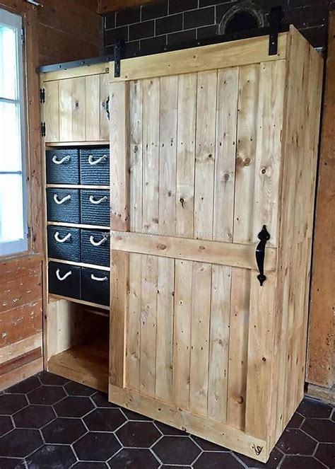 diy armoire closet wooden pallets made closet plan wood pallet furniture