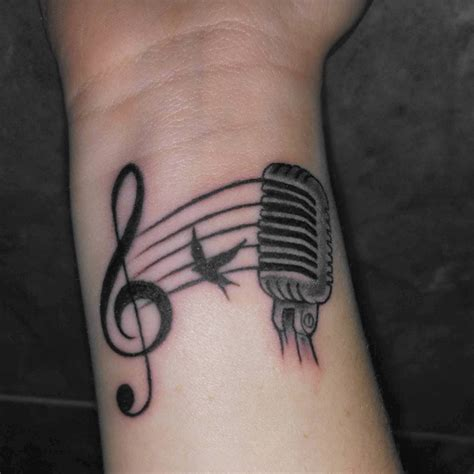 music note tattoo wrist wrist tattoos designs ideas and meaning tattoos