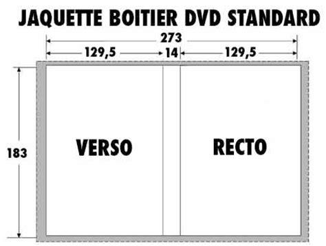 format dvd standard gabarits jaquette dvd blu ray pour duplication en gravure