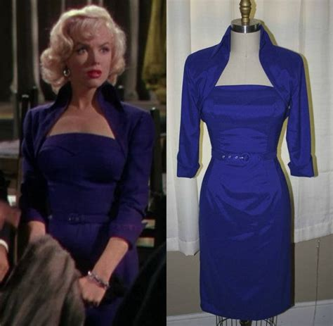 Ndress Marillynro marilyn s royal blue dress worn in quot gentlemen prefer quot 1953 costume designs