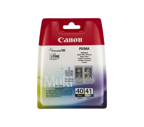 Cartridge Kosongan Pg 40 canon pg 40 cl 41 black colour ink cartridge multipack deals pc world