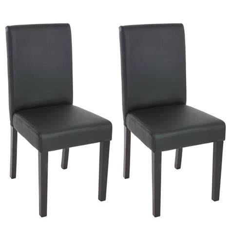 chaise de salle a simili cuir noir