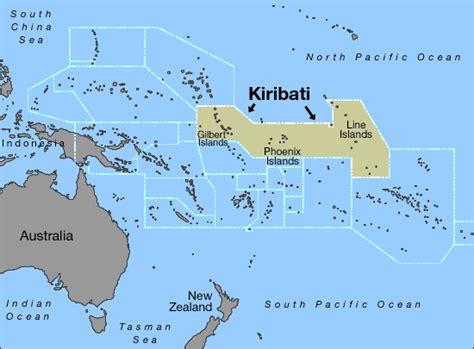 map of kiribati islands kiribati relocating to fiji the island that could