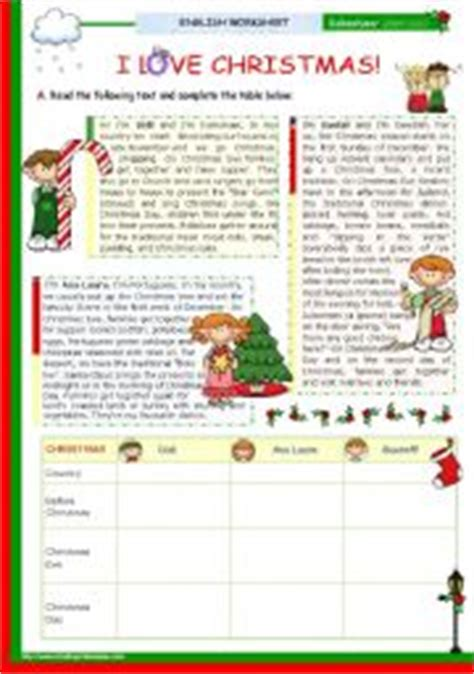 christmas activities for new students teaching worksheets reading