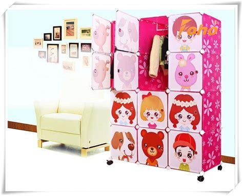 Lemari Plastik Kartun gaya kabinet lipat diy bayi lemari plastik dengan desain