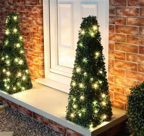 artificial topiary trees with solar lights artificial topiary for space decor and landscape