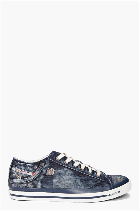Sneakers Denim diesel exposure low i sneakers in blue for denim lyst