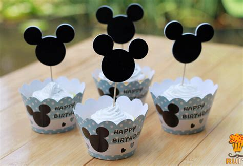 Mickey Mouse Baby Shower Items by 120pcs Mickey Mouse Cupcake Wrappers Toppers Cake Picks