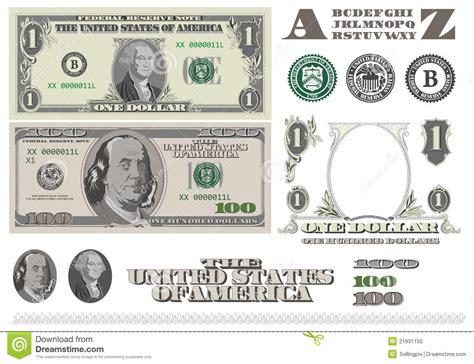 template of dollar bill money 1 and 100 dollar bills template stock illustration illustration of blank benjamin
