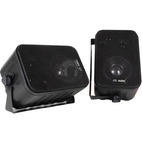 3 way 120w pair black wall speakers bookshelf mountable