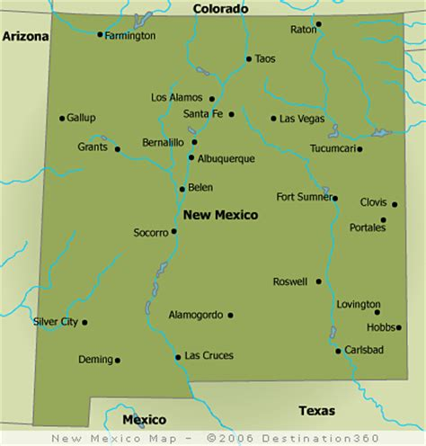 map of texas and new mexico cities new mexico map new mexico state map