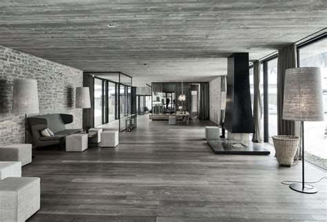 Exposed Concrete Interior by Hotel In Austria Interiorzine