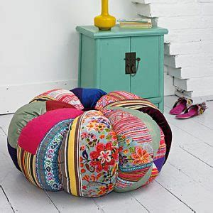 Patchwork Pumpkin - plumo large patchwork pumpkin pouf cosy home