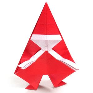 Simple Origami Santa Claus - how to make a simple origami santa claus page 1