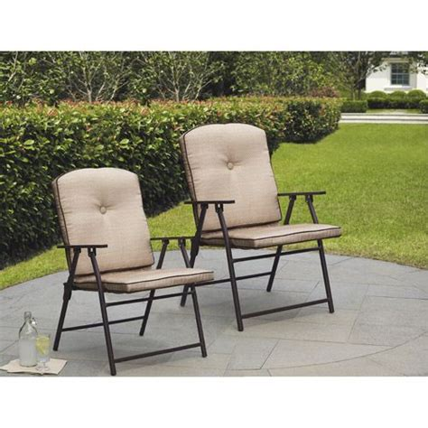 mainstay padded folding lawn chairs mainstays sand dune outdoor padded folding chairs set of