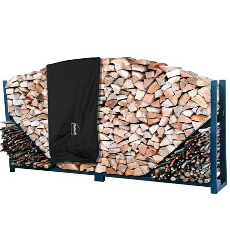 shelterit 8 ft heavy duty firewood log rack with cover