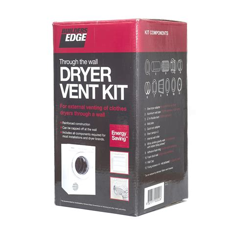 builders edge through the wall dryer vent kit bunnings